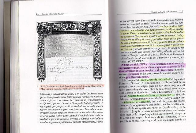 Felipe II condecora la ciudad de Santiago de los Caballeros de Guatemala