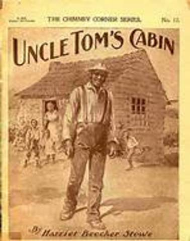 Harriet Beecher Stowe publishes Uncle Tom's Cabin, an antislavery novel.