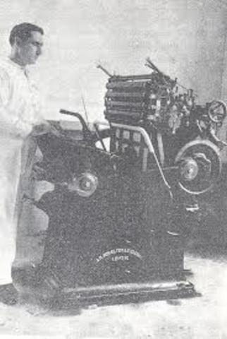 Instauración de la imprenta