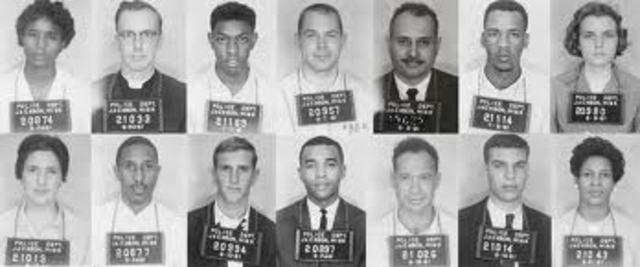 Freedom Riders arrive in Jackson, MS
