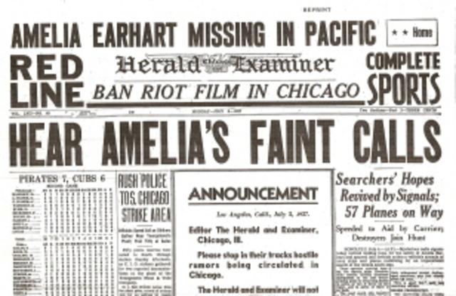 Amelia Earhart Goes Missing