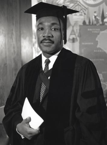 Martin Luther King, Jr. recieves sociology degree.