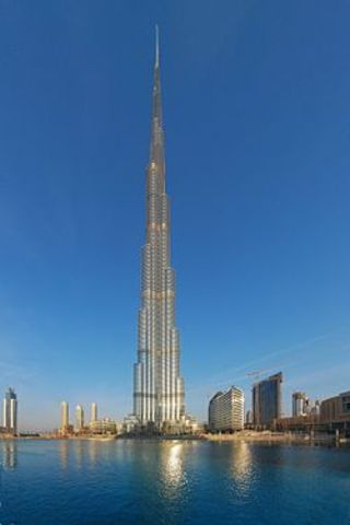 The tallest man-made structure to date opened.