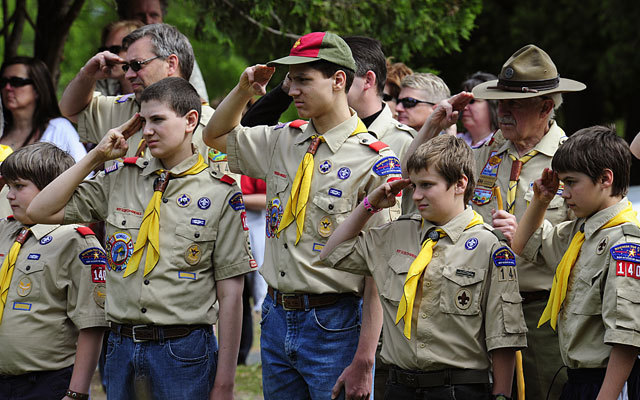 The 100th anniversary of the Boy Scouts of America.