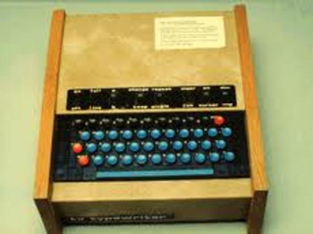 Máquina de Escribir TV/ Micral