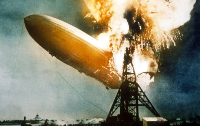 Zeppelin Hindenburg Crashes