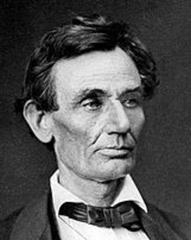 Election of 1860: Lincoln (R) V. John C. Breckinridge (Southern D) V. John Bell (Constiutional Union) V. Stephen A Douglas (D)