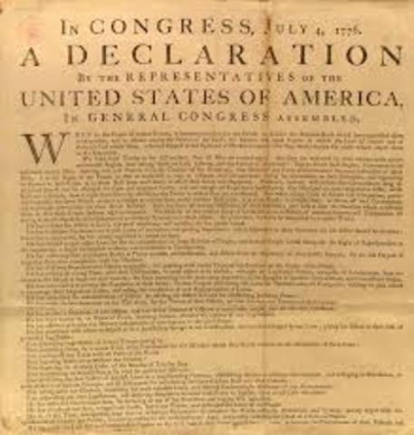 Declaration of Independance (part 1)