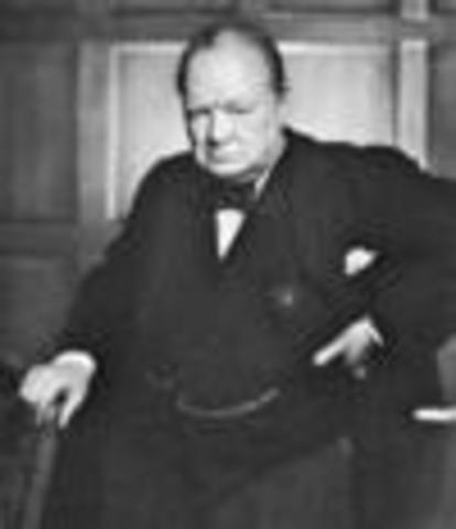 Winston Churchhill becomes prime minster of Britain