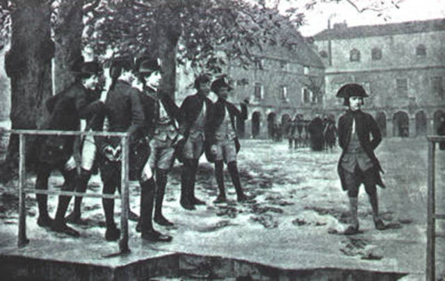 Napoleon begins study at the royal military academy
