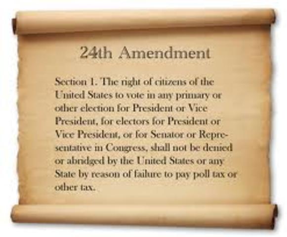 Twenty-Fourth Amendment Passed