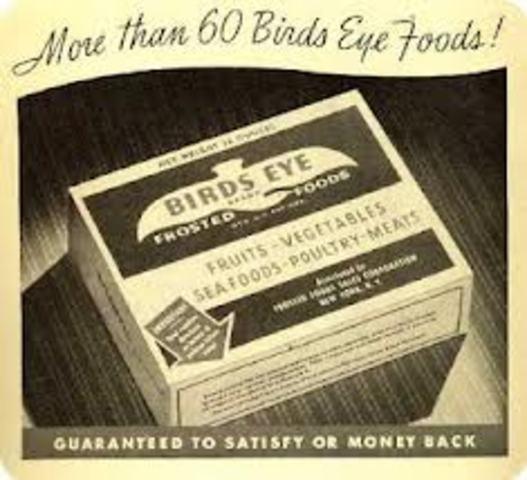 Clarence Birdseye invents frozen food