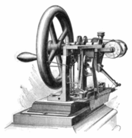 Elias Howe invents the sewing machine.