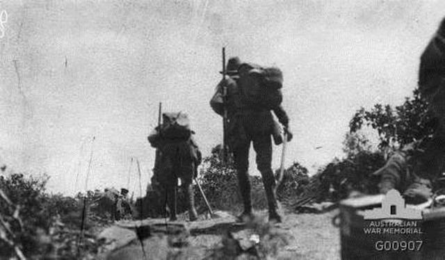 Australians go into action at Gallipoli