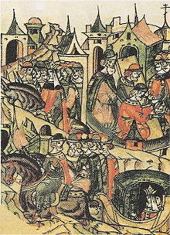 "Yury Dmitrievich""s army vs. the army of Vasily II."