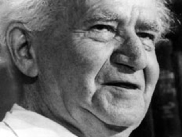 David Ben-Gurion - pre founders of the Jewish state of Israel.