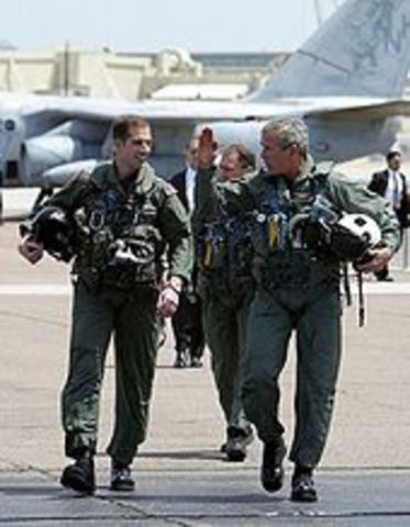Bush was commissioned into the Texas Air National Guard