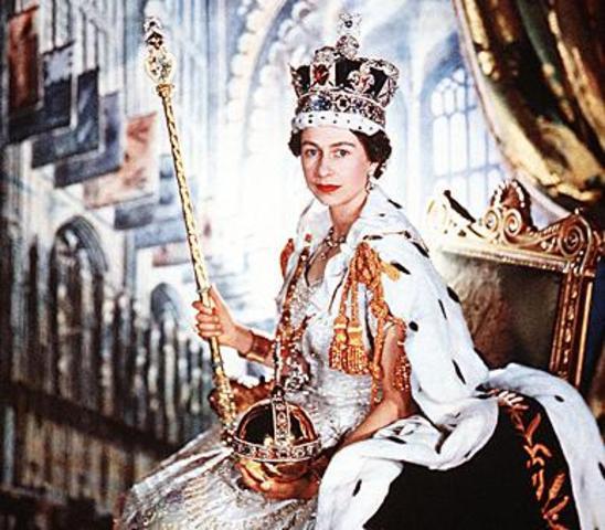Queen Elizabeth was crowned as Queen of England