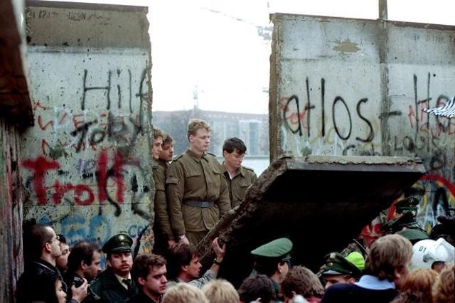 Berlin War is torn down.