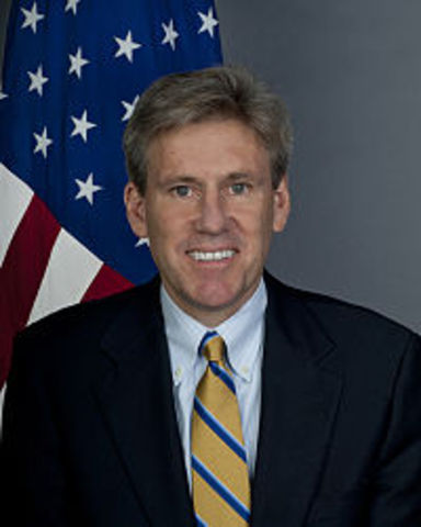 US ambassador J. Christopher Stevens killed in Libya.