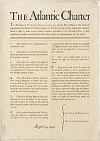 Churchill and FDR issue the Atlantic Charter