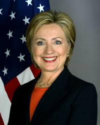 Hillary Clinton as S.of S.