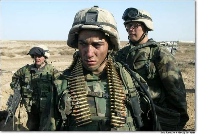 The U.S. coalition seizes control of Baghdad in the Iraq conflict.