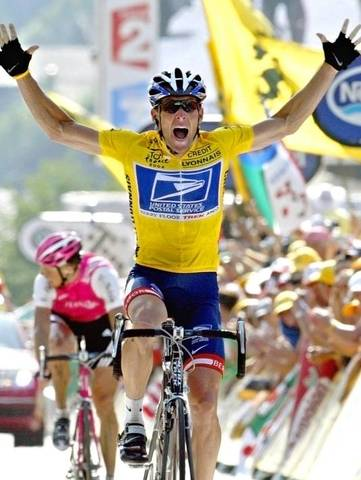 American cyclist Lance Armstrong wins his record 7th straight Tour de France.