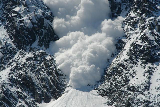 An avalanche destroys the Austrian village of Galtür