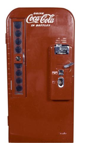 First soda vending machine