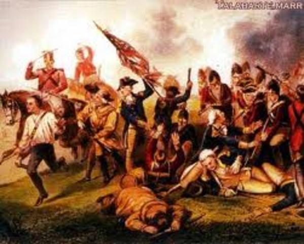 Start of Revolutionary War