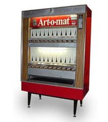 First cigarette vending machine