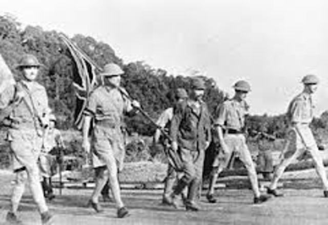 U.S. and Britain declare war on Japan. Japanese land near Singapore and enter Thailand.