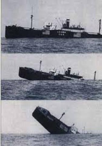First Japanese merchant ship sunk by a U.S. submarine