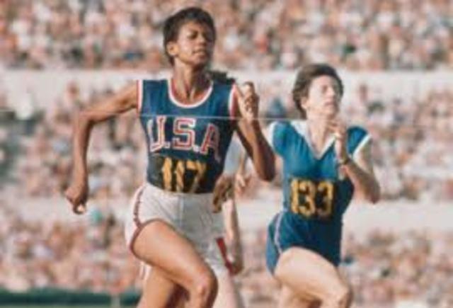 Wilma Rudoph Wins Gold Metals in 1960 Olympics
