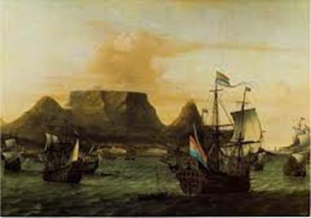 Dutch settlers arrive in South Africa.