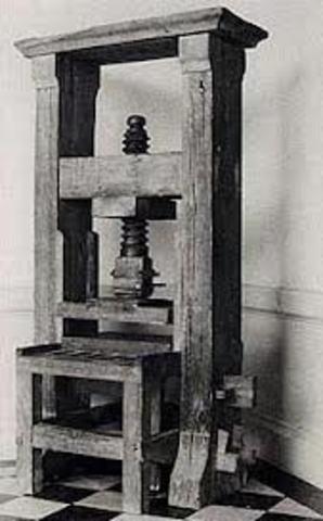 Se establecen las primeras imprentas en Europa.