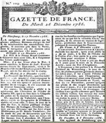 Se funda el periódico Gazette