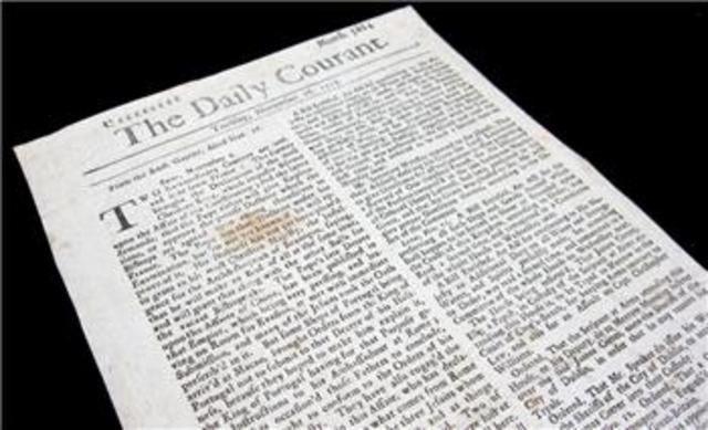 Se publica en Londres The Daily Courant,
