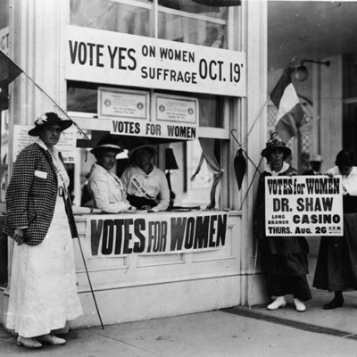 Women's Suffrage Rights Movement timeline