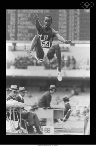 Bob Beamon Jumping 29, 2 1/2 Inches in Long Jump Event