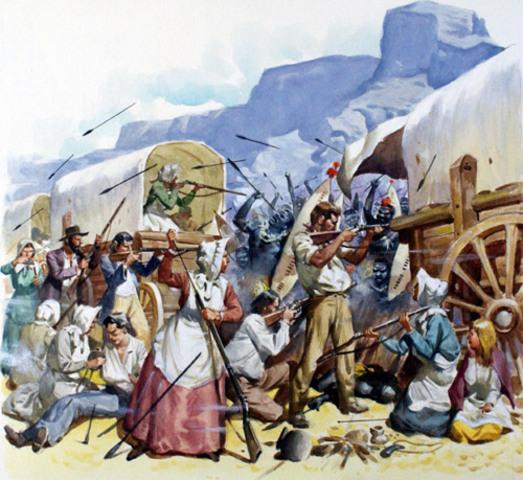 Dutch Settlers arive in South Africa