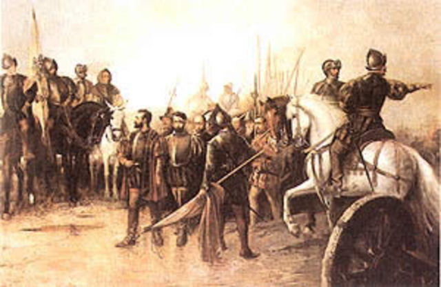 The Revolt of the Comuneros begins