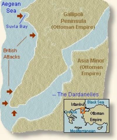 Battle of Gallipoli begins