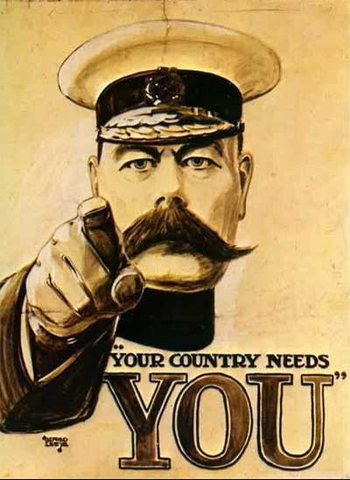 Conscription is in effect in Britain