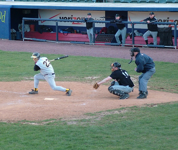 "Scoring the Winning RBI at Dutchess Stadium,  as my son Aiden cheers me on, ""GO DADDY"""