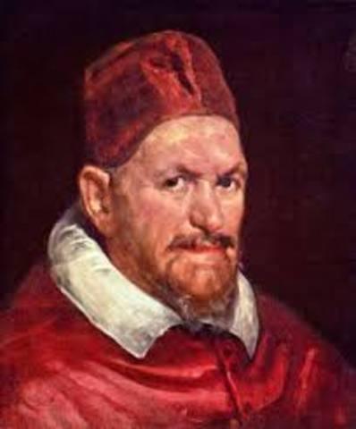 Uno de los retratos más importante pintado en Italia fué Inocencio X