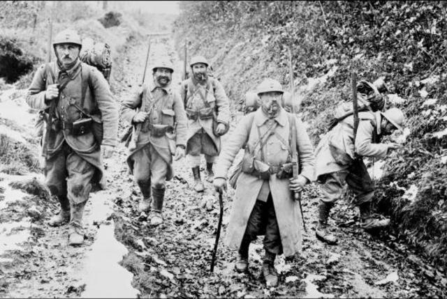 Disastrous French offensive at Chemin des Dames