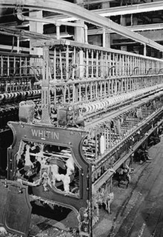 Richard Arkwright patents the spinning frame.