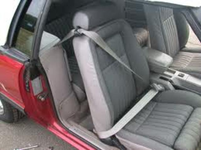 Seat Belts have been fitted into automobiles